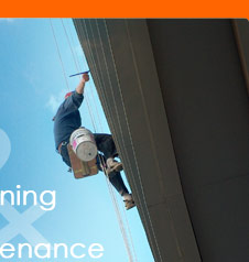 Specialising in High rise window cleaning, water blasting, building maintenance